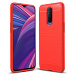 Flexi Slim Carbon Fibre Tough Case for Oppo R17 Pro - Brushed Red